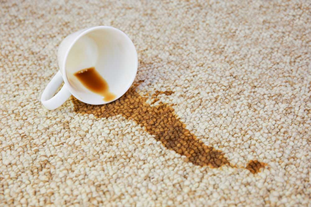 coffee stain carpet